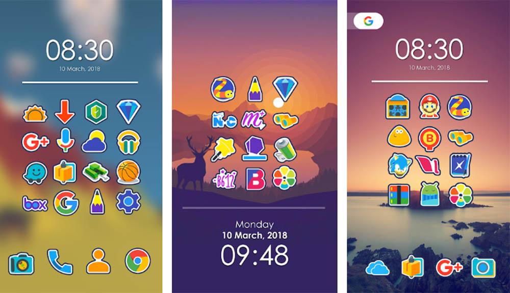 Sla nu je slag met gratis betaalde Android icon packs (referrals uit de links gehaald)