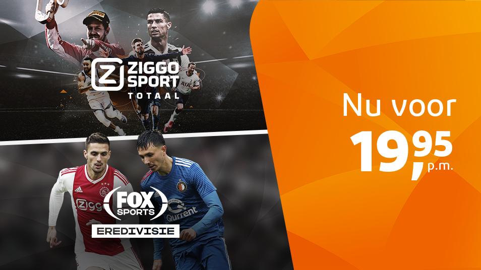 Ziggo Sport Totaal + FOX Sports Eredivisie TV pakket voor €19,95 per maand @ Ziggo