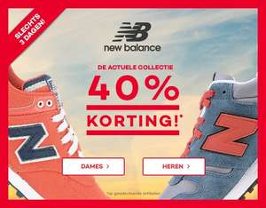 40% korting op New Balance sneakers - dames & heren - @ Planet Sports