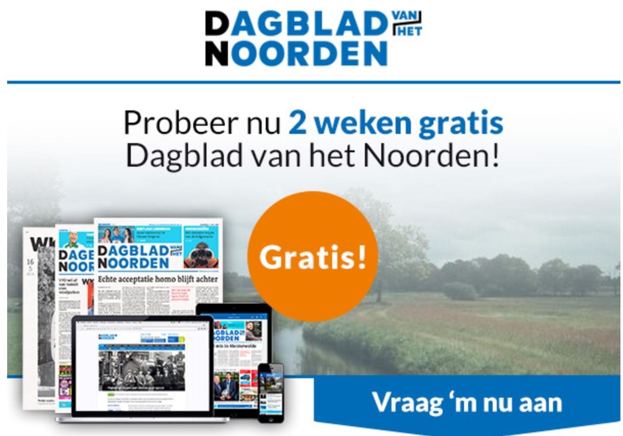 Gratis 2 weken Dagblad van het Noorden