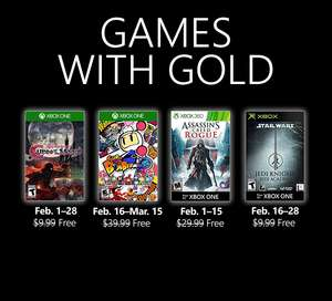 Xbox games with gold februari