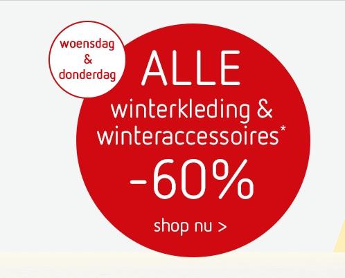 Alleen vandaag en morgen 60% korting op ALLE winterkleding en winteraccesoires @ Kleertjes.com