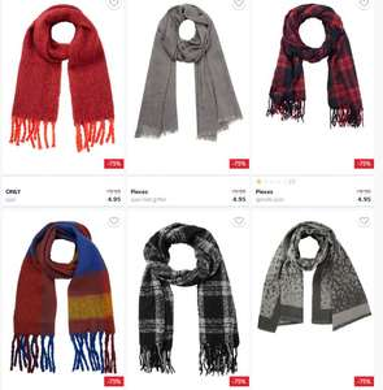 Diverse dames shawls 70-80% korting @ Wehkamp