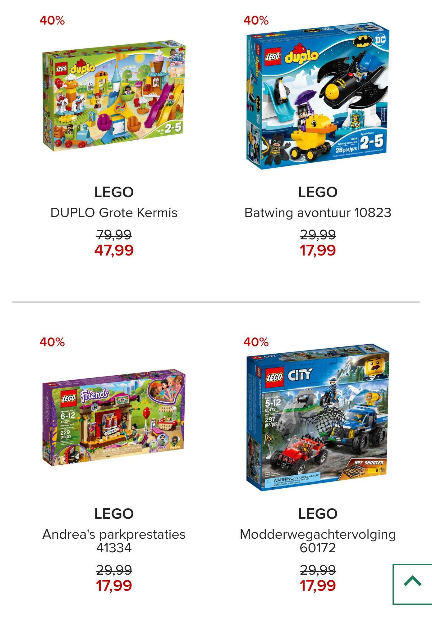 LEGO® 40% - 48% korting + gratis verzending @Hudson'sBay