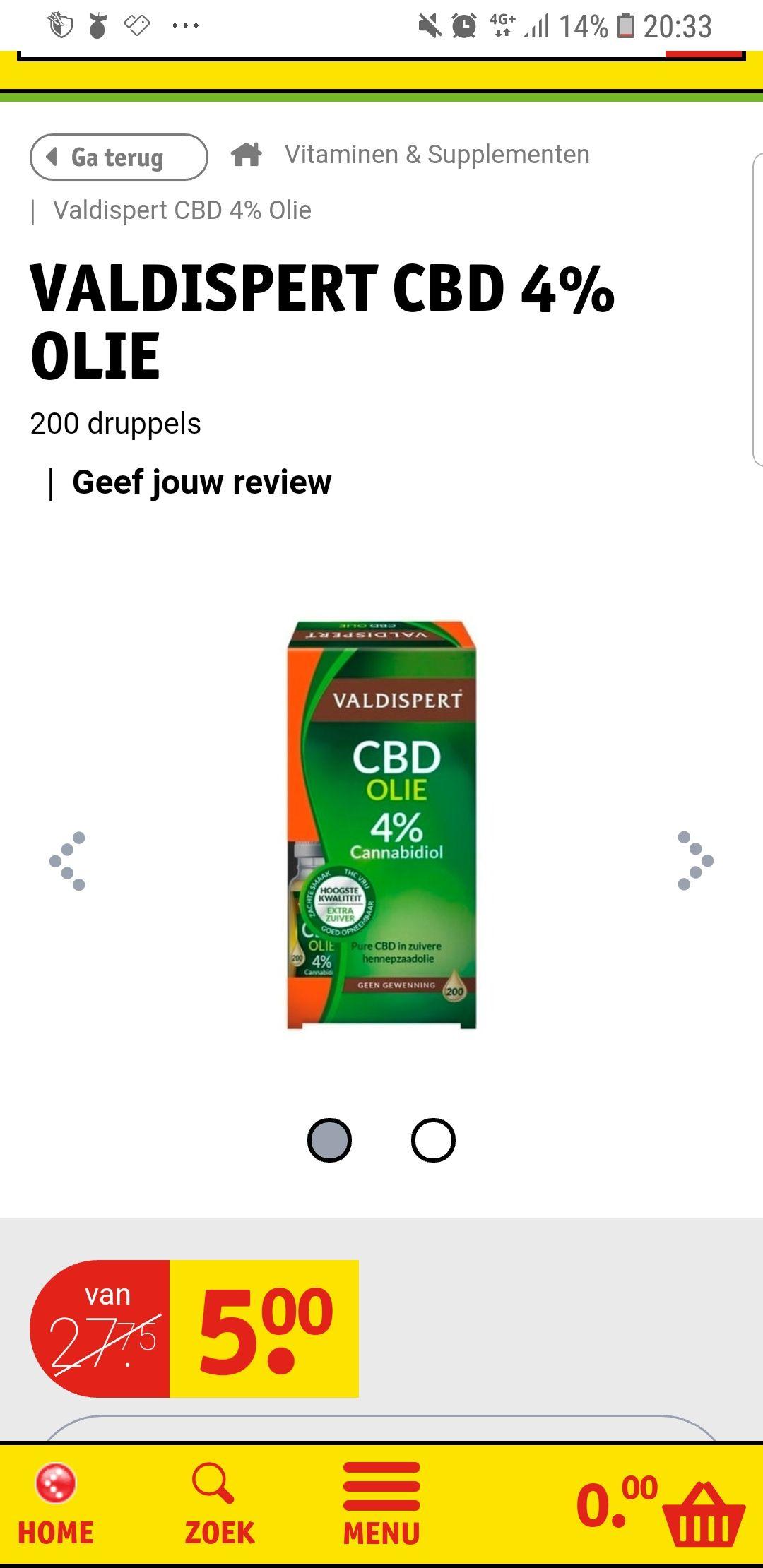 Alle CBD producten van Valdispert voor maar 5 euro bij Kruidvat.