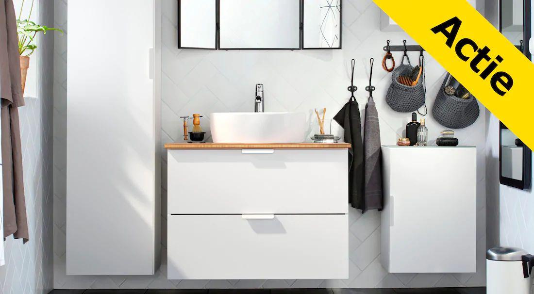 IKEA 10%/15% op Godmorgon badkamermeubels en spiegels