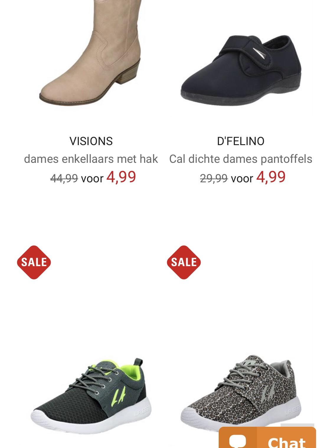 Schoenen voor dames en heren vanaf €4,99 @Schuurman-schoenen