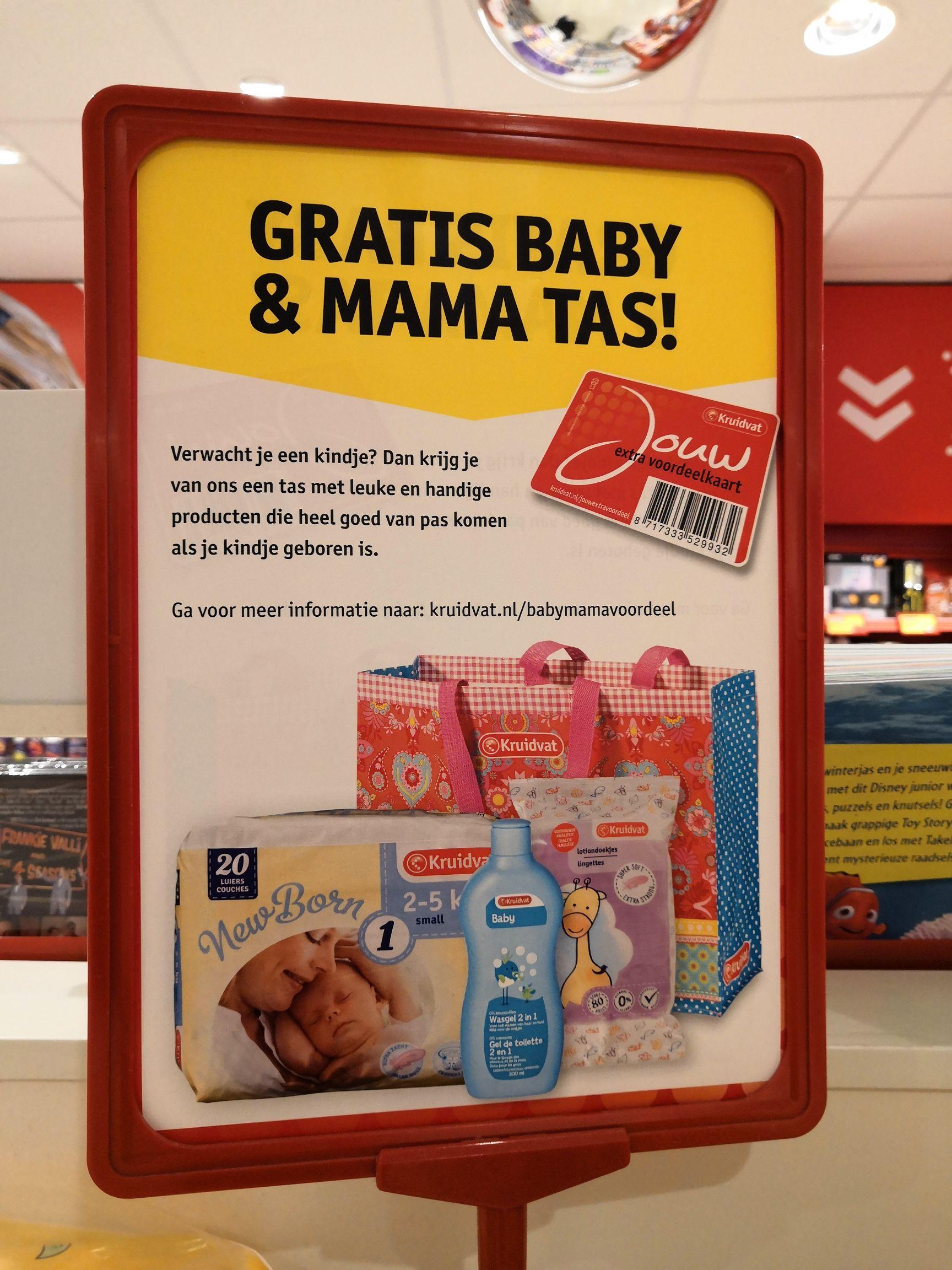 Gratis Baby & Mama tas @Kruidvat