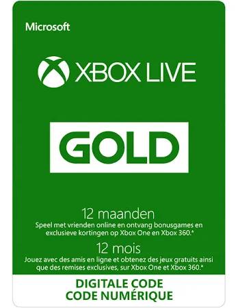 Xbox Live Gold - 12 Maanden Abonnement (global) voor €30,59 @ Gamivo