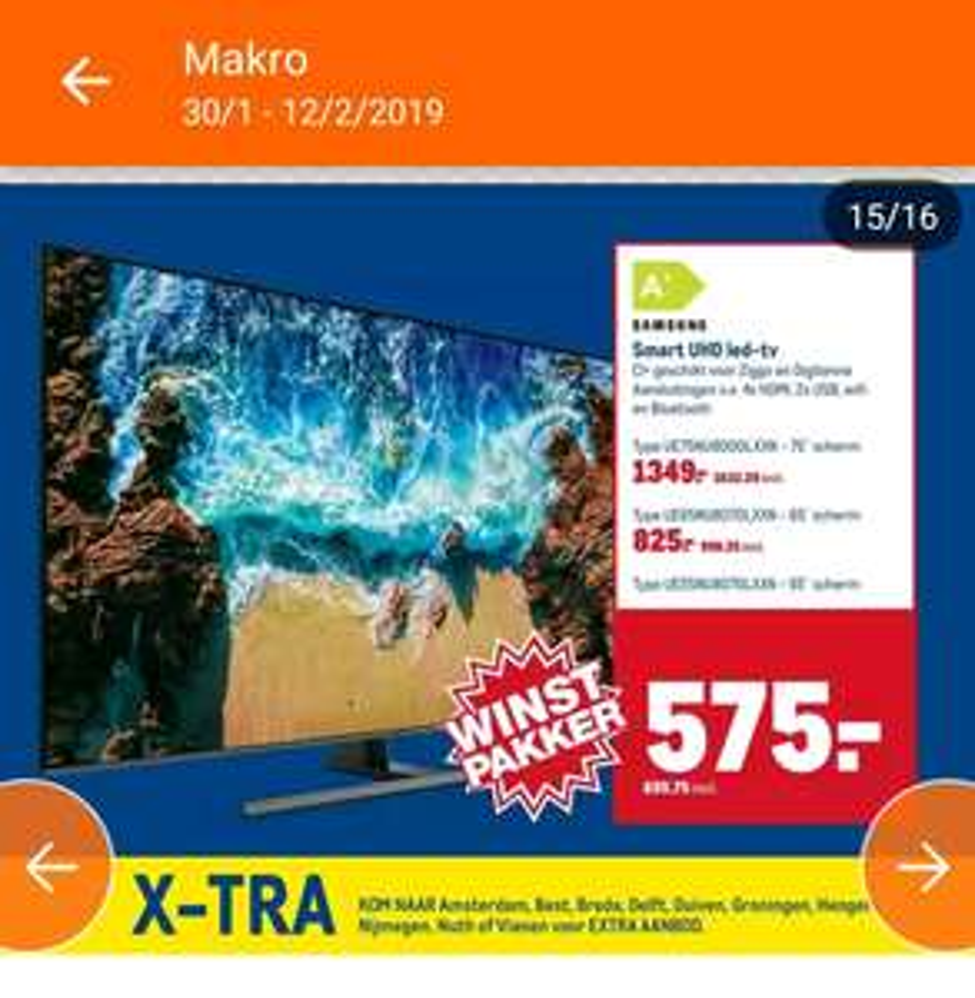 "Makro: Samsung UE65NU8070 65"" Premium 4K UHD TV."