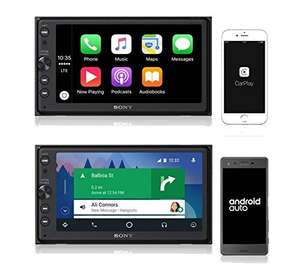 Sony Autoradio (mediaspeler) met Apple Carplay en Android Auto XAV-AX100 Media @ Amazon.de