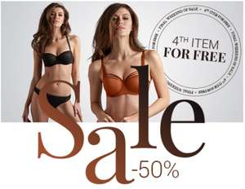 SALE tot -50% + 4e artikel gratis @ Marlies Dekkers