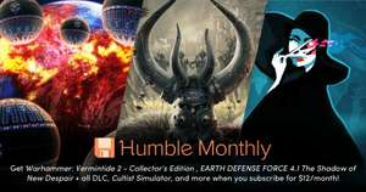 Humble Monthly Maart - $12 voor WARHAMMER: Vermentide 2, Cultist Simulator en meer