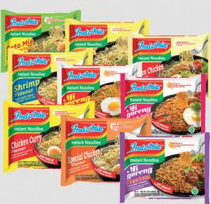 Indomie instant noodles. 1 box voor 8,88eur. (ofwel 22 ct per pakje). via Oriental toko.