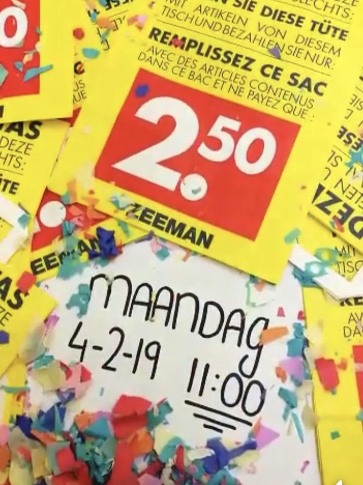 Tas vullen bij Zeeman voor 2,50