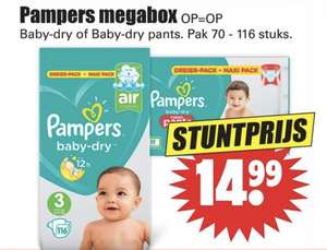 Pampers Baby Dry Megabox @ Dirk