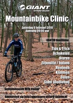 Gratis Mountainbike Clinic door Giant Store in Sittard-Geleen (snel zijn maar 16 deelnemers)