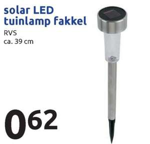 Solar LED tuinlamp fakkel @ Action