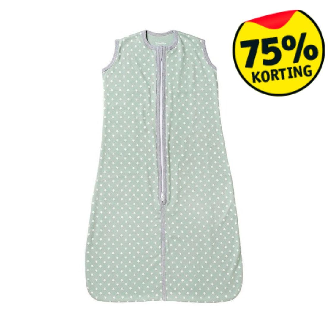 75% korting | Bambino Basics Slaapzak Groen - 80cm (i.p.v. €9,99) @Kruidvat