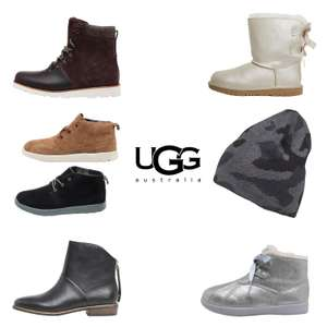 Ugg - dames / heren / kids - hoge kortingen (va €16,95 - muts) @ MandM Direct