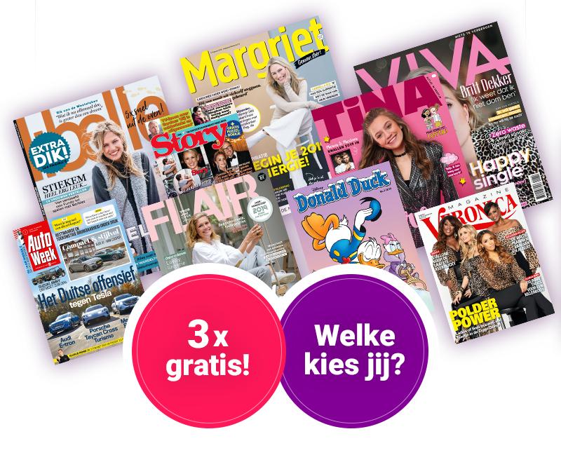 3x een tijdschrift naar keuze voor €2,95 @ Sanoma