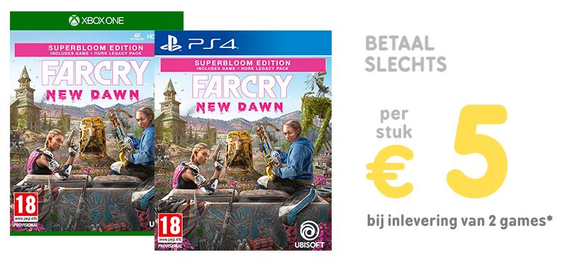 Far Cry New Dawn voor €5 bij inleveren van twee games of €25 bij inleveren één game @ Gamemania