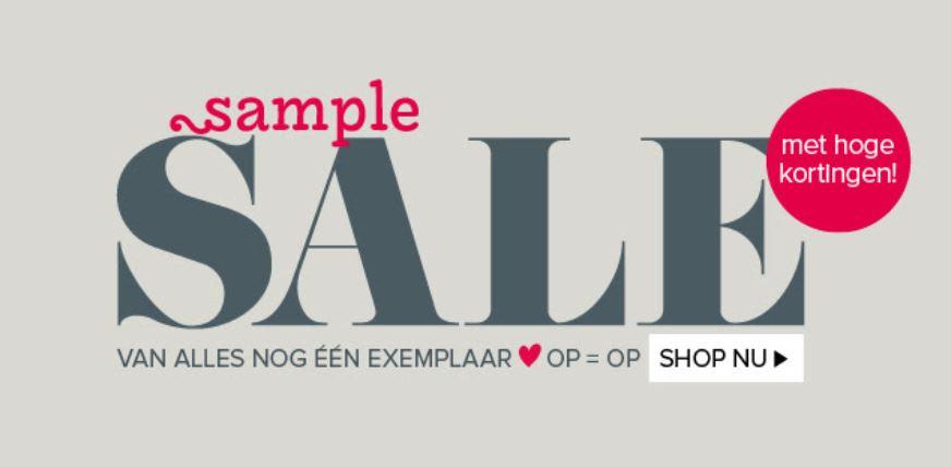 Sample Sale tot -60% + 10% extra met code @ VT Wonen