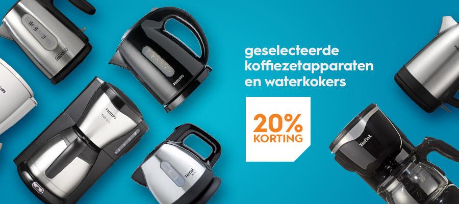 Tot en met 10 februari 2019 -20% korting op diverse koffiefilterapparaten en waterkokers @ Blokker