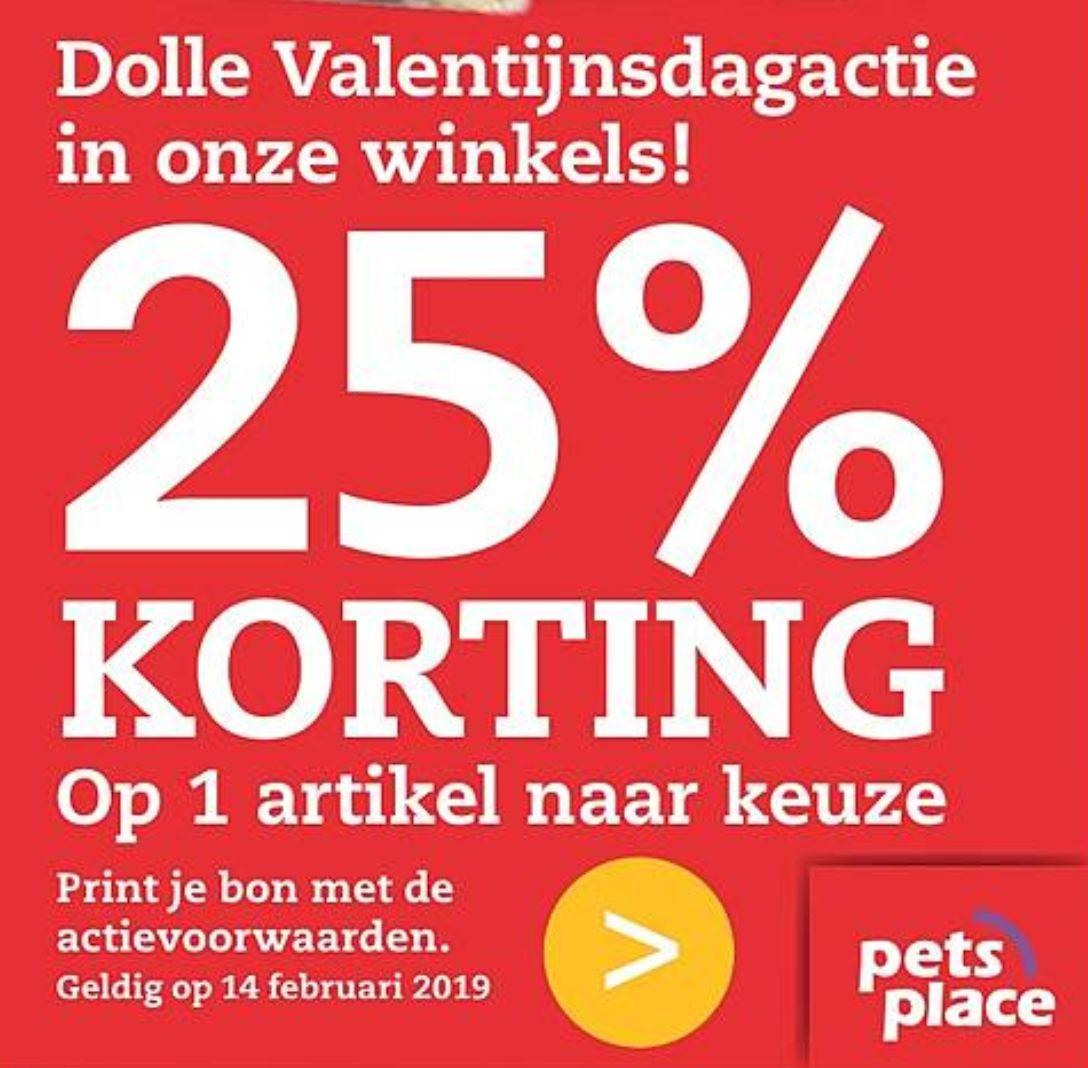 25% korting op één artikel naar keuze @PetsPlace
