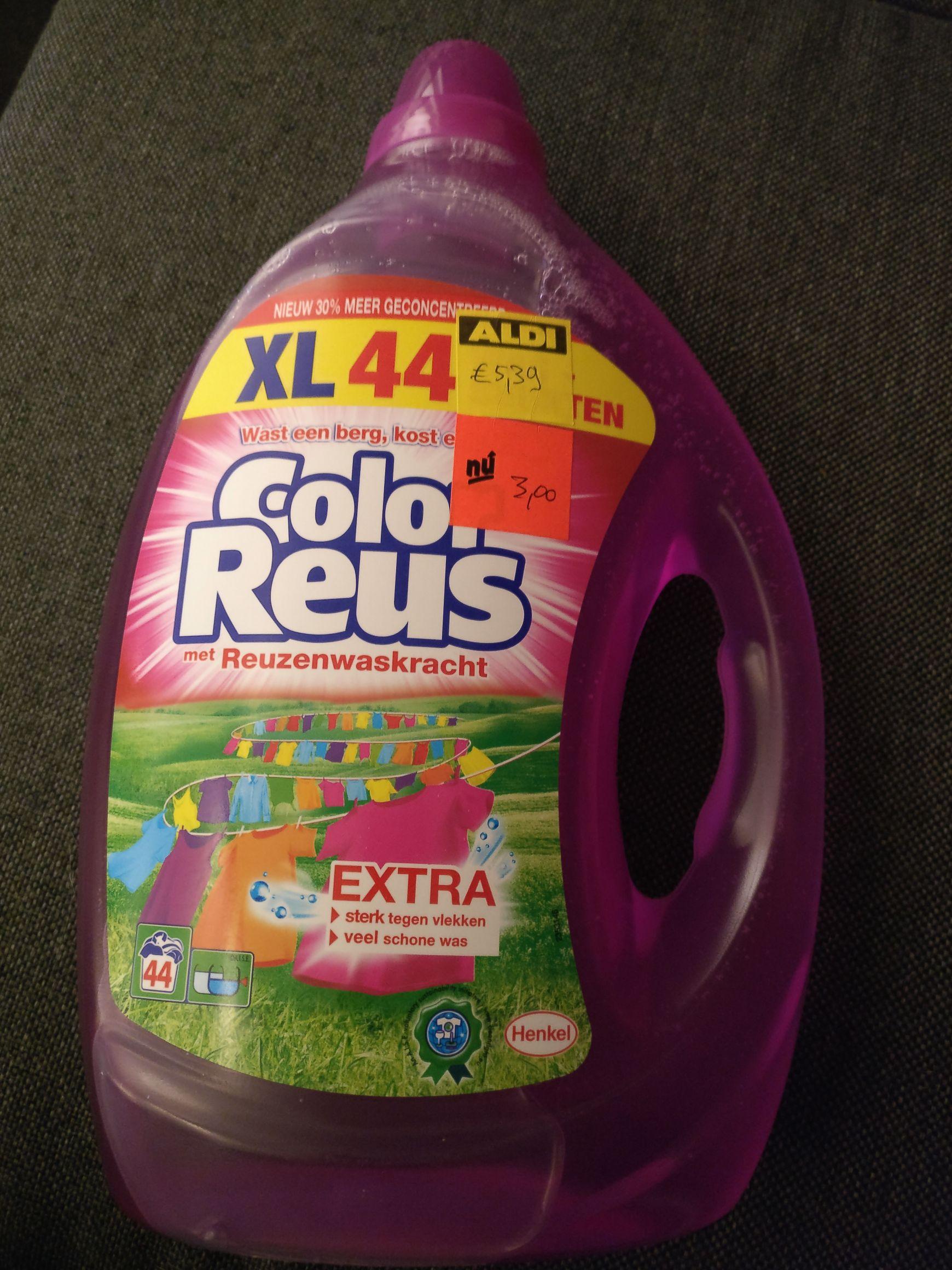 Lokaal? Color reus vloeibaar wasmiddel, 44 wasbeurten voor €3,00!
