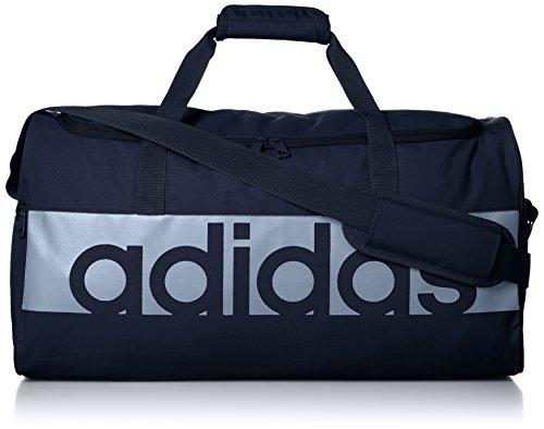 Adidas Linear Performance Large Sporttas: 26x67x35 cm. Blauw/wit.