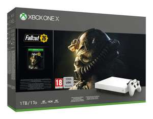 Xbox One X + Fallout 76 (Robot White Special Edition) Wit