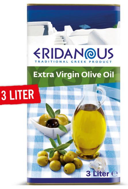 Grieks extra vierge olijfolie. 17eur/ 3 liter. (dus 5,67eur/liter). via Lidl.