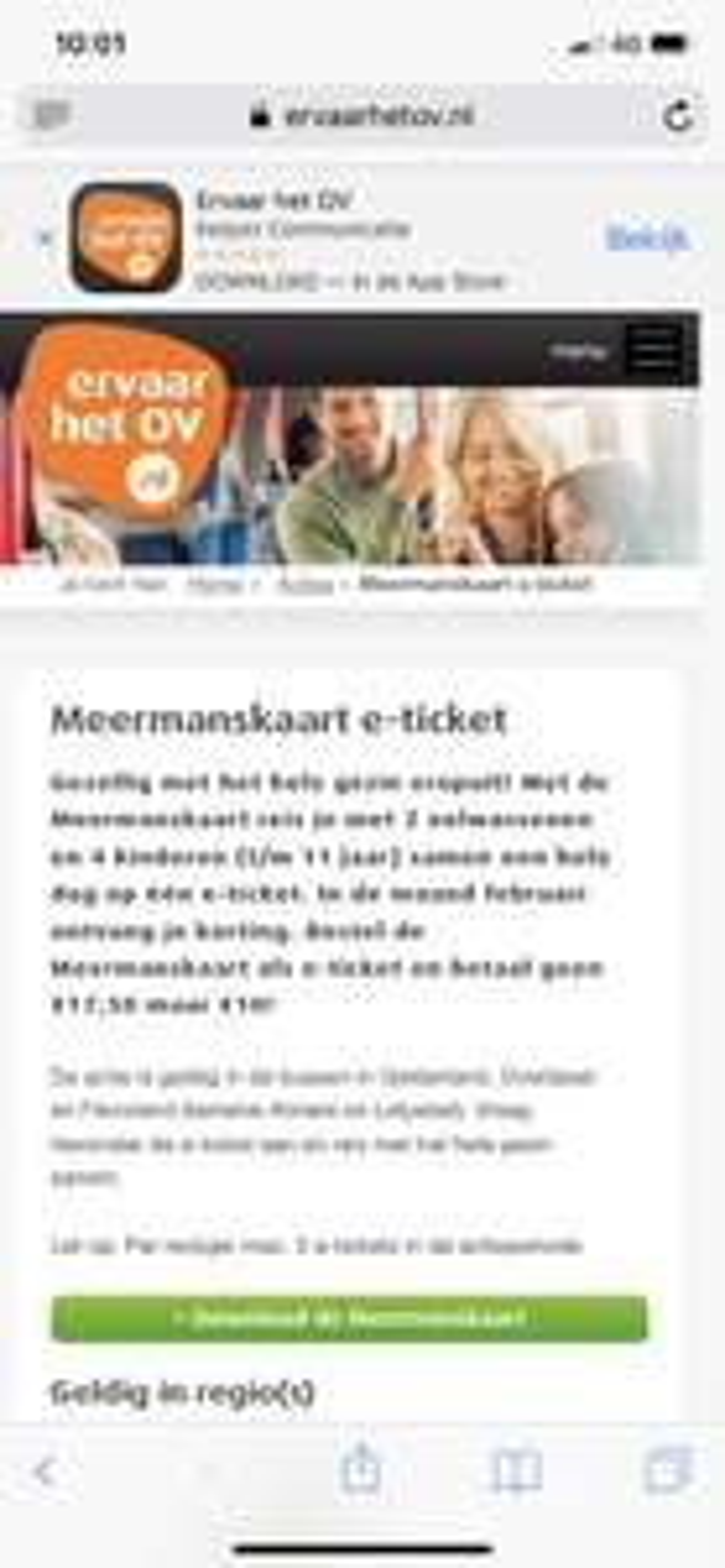 Reizen in de bus dagkaart 2 volwassenen 4 kinderen voor 10 euro!