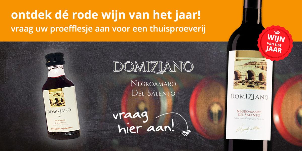 Gratis proefflesje Negroamaro Domiziano wijn @ Josbeeres.nl