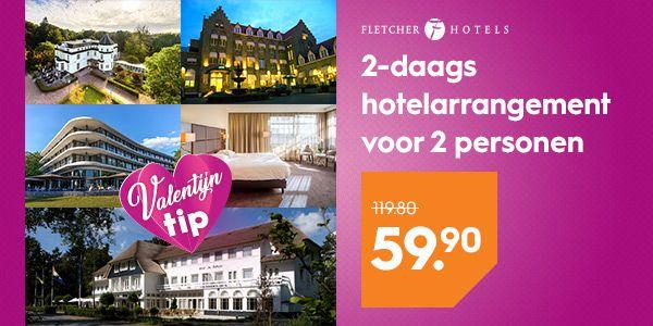 Fletcher 2-daags hotelarrangementvoor 2 personen voor €59,90 @Blokker