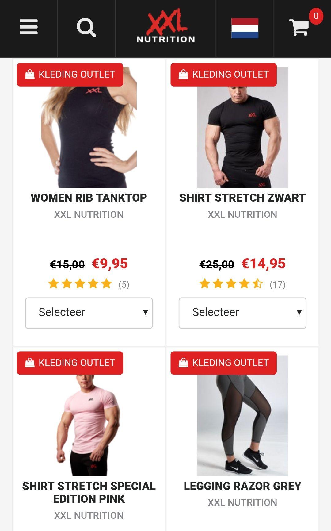 XXL Nutrition kleding sale.