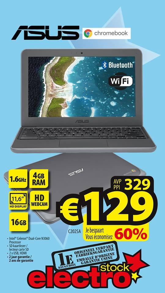 [BE]  Asus Chromebook C202SA @ electrostock