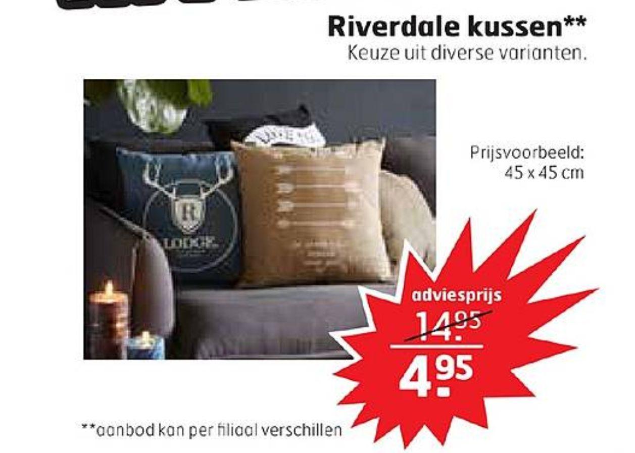 Riverdale kussens voor €4,95 (i.p.v. €14,95) @Trekpleister