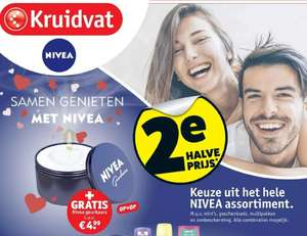 Gratis Nivea geurkaarsen t.w.v. €4.99 bij 2e halve prijs Nivea producten @Kruidvat
