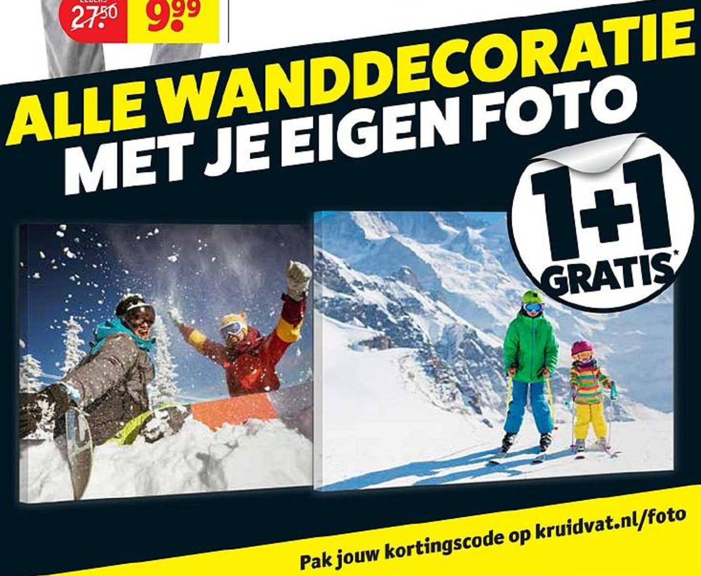 (1+1 gratis) op alle wanddecoratie met je eigen foto @Kruidvat