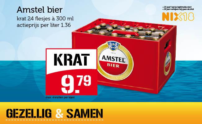 Krat Amstel bier voor € 9,79 @ Coop / Supercoop