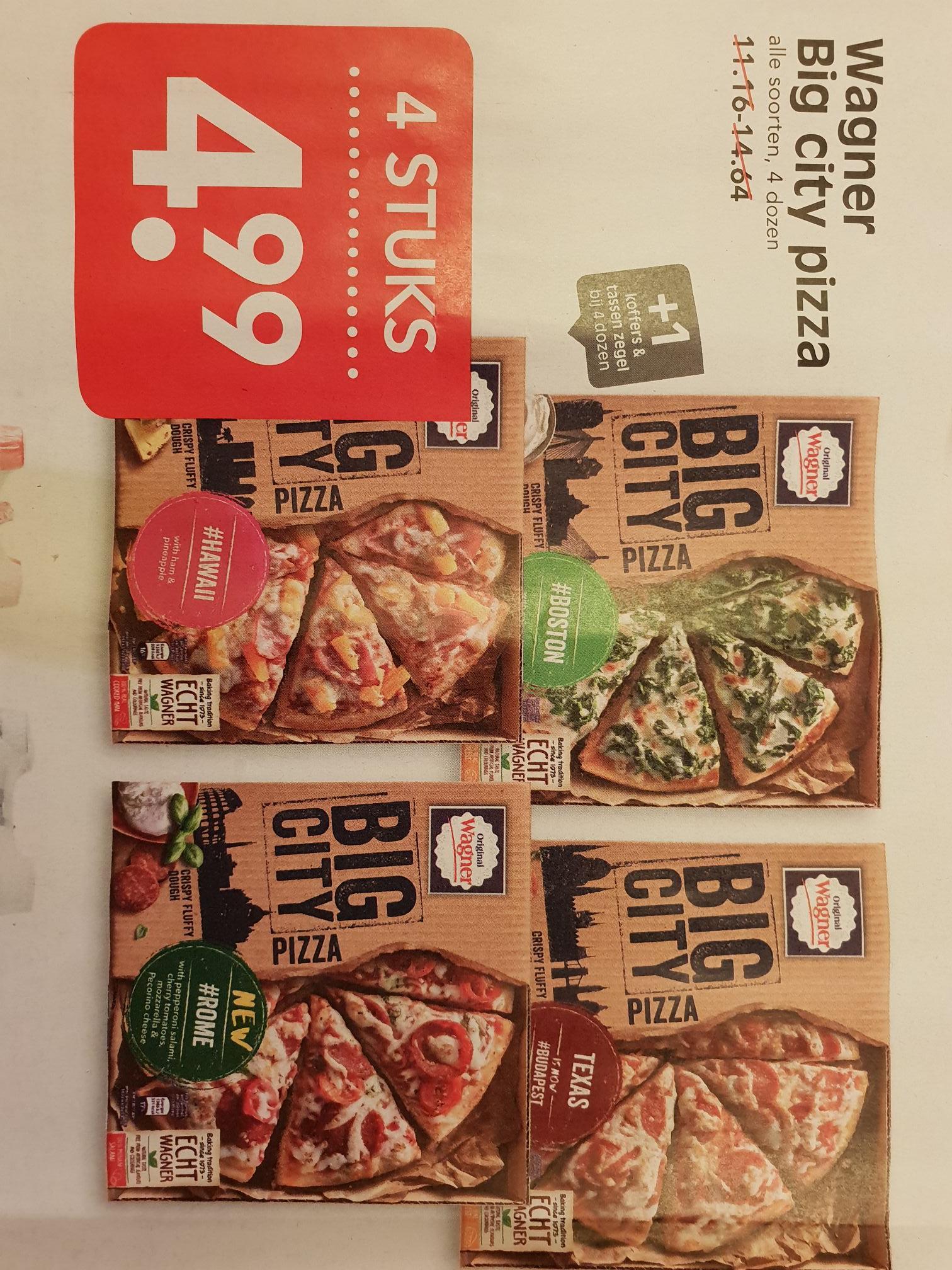 Wagner Big City Pizza, 4 stuks voor €4.99. EMTE