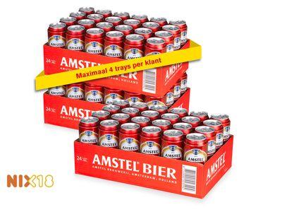 24 blikken halve liters Amstel Bier voor een tientje!