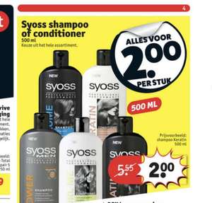 Alle shampoo en conditioner van syoss