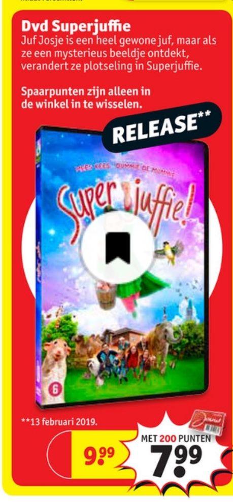 Release dvd Superjuffie bij Kruidvat