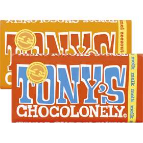 2 repen Tony's' Chocolonely voor €4,00 @Jumbo