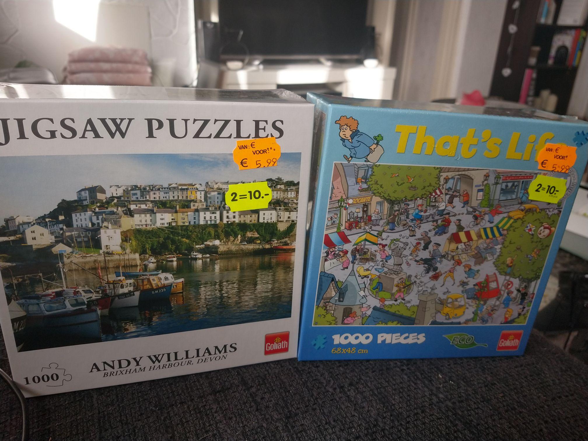 2 legpuzzels voor 10 euro