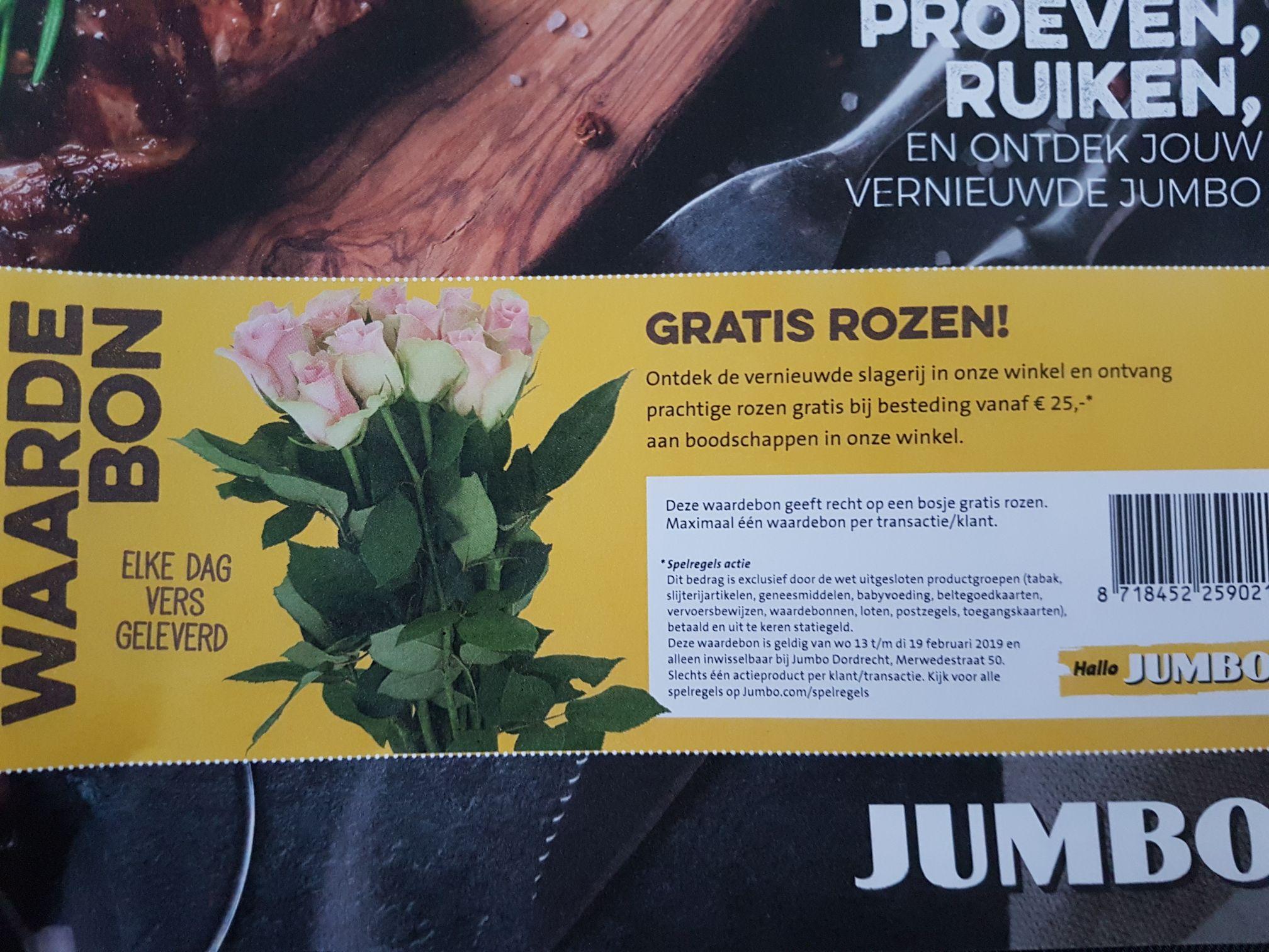 [Jumbo Dordrecht] gratis rozen