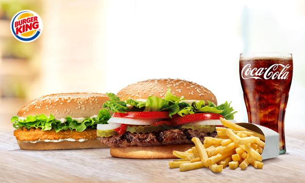 Large menu bij Burger King Geffen (A59) & Bruchem (A2) @Socialdeal